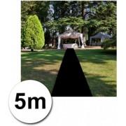 5 meter zwarte loper 1 meter breed