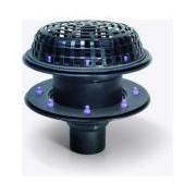 Sifon Kessel 48370.01, Ecoguss Roof drain diametru 75 2xflange
