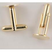Cadru butoni placat cu aur - pereche