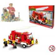 Playset costruzioni Pompieri +175 pz da assemblare 2 personaggi camion e scala estensibile M38-B3000