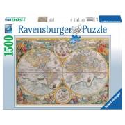 Puzzel Wereldkaart 1594 met 1500 stukjes | Ravensburger