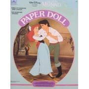 Walt Disney The LITTLE MERMAID PAPER DOLL Book UNCUT w Ariel & Prince Eric Dolls (1991 Golden)