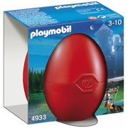 Playmobil Easter Red Egg - Armed Falcon Knight with Cannon Set