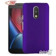 Unistuff™ Matte Finish Hard Shell Ultra Thin Bumper Back Case Cover for Motorola Moto G 4th Gen / Moto G4 / Moto G Plus, 4th Gen / Moto G4 Plus (Purple)