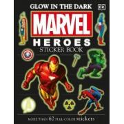 Glow in the Dark Marvel Heroes Sticker Book by DK Publishing