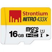 Strontium Nitro 16GB Memory Card - MICROSDHC UHS-1 CLASS-10 433X 65MB/s
