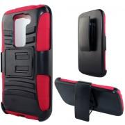 Funda Protector LG G2 Mini Mixto Rojo c / Clip
