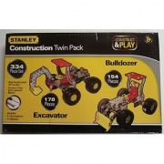 Stanley Construct & Play Construction Twin Pack 334 Piece Set