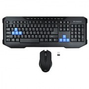 Rii RKM200 Ergonomic 2.4G Wireless Keyboard and Mouse Combo for Desktop with Water-Resistant Design
