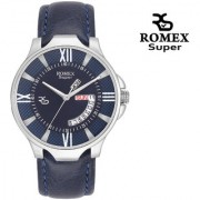 Romex Super Split Day N Date Analog Blue Dial Men Watch- Dd-09Bu