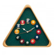 Horloge Triangulaire Bois Pool