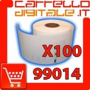 Etichette Compatibili con Dymo 99014 Bixolon Seiko 100 Rotoli