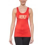 Nike Pro Logo Koszulka do biegania Kobiety czerwony Koszulki treningowe bez rękawów