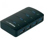 USB 3.0 4port HUB tápegységgel Renkforce (1005584)