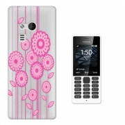 Nokia 216 Protecteur Coque Gel Rubber Silicone Protection Case Coquec01296 - Floral Shabby Chic Floral Daisy