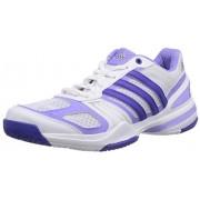 adidas Performance Rally Court - Zapatillas de tenis para mujer, Ftwr White/Night Flash S15/Light Flash Purple S15