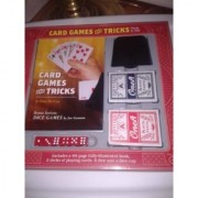 Card Games and Tricks Kit ~80 Pg. Book 2 Decks Cards Dice Magic Game Toy