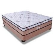 Conjunto Box Colchão Probel Molas Pocket Classic Látex + Cama Box Nobuck Cafe - Conjunto Box Casal - 138 x 188