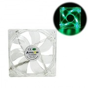 Autolizer Sleeve Bearing 120mm Green LEDs Silent Cooling Fan for Computer PC Cases CPU Coolers and Radiators High Airflow Quiet and Transparent - 2 Years Warranty