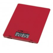 Clatronic KW 3626 - Báscula de cocina digital, 5 kg, pasos 1 g, función tara, color roja