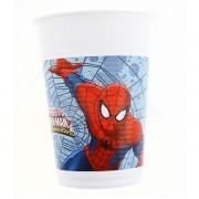 Pókemberes műanyag pohár, 200 ml, 8 db/cs