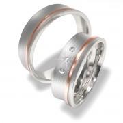 Luxusní Ocelové snubní prsteny 7024