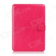 """Protective PU Leather Flip Open Case for Macbook Air 13.3"""" Laptop - Red"""