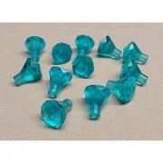LEGO 1 x 1 Rock 24 Facet Jewel Treasure Gem Trans Light Blue - 12 Pack