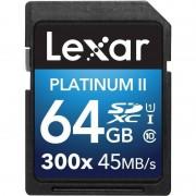 Card Lexar SDXC Platinum II 300x 64GB Clasa 10 UHS-I 45MB/s