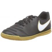 Nike JR Tiempo Rio Iii IC, Botas de Fútbol para Niños, Negro / Blanco / Dorado (Black / White-Metallic Gold)