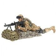 McFarlane Military Series 3 Army Desert M60 Gunner; Caucasian (mouth closed)