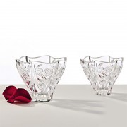 Roses set 2 votive cristal 11cm
