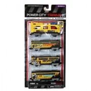Jakks Pacific Year 2013 Power City Trains Series 4 Pack Train Accessory Set - Motocross International Tour MXS BULLET wi