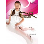 Fiore Elegant plain tights for girls Antonella