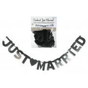Banner JUST MARRIED metalizat