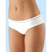 GINA Francouzské kalhotky s proužkem a tiskem na předním díle 04016-MxBMBF bílo/růžová L/XL