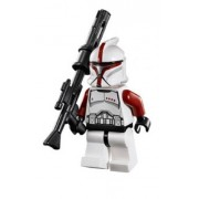 Lego Star Wars Minifigure Red Clone Trooper Captain from Republic Gunship (75021)