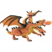 Figurina Bullyland Three Heads Orange Dragon