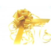 A pack of 4 x GOLD 31mm SATIN PULL BOW COPY