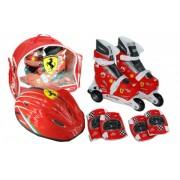 Set role cu accesorii protectie incluse Saica Ferrari marimi reglabile 31-34