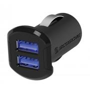 SCOSCHE USBC242M 12 Watt USB Car Charger for iPhone/iPad/iPod Lightning/Micro - Retail Packaging - Black