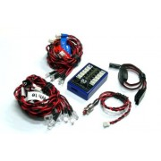 RCECHO® GT POWER RC Model 12 LED Car Flashing Light System LE858 con RCECHO® Full Version Edition Aplicaciones
