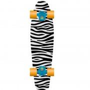 PROHIBITION Retro Plastic Skateboard 28 Zebra