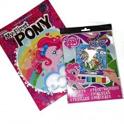 My Pony Water Paint and Coloring Book Bundle includes 1 Package of My Little Pony 8 Sheet Magic Paint Posters and 1 My First Pony Coloring and Activity Book