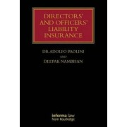 Directors' and Officers' Liability Insurance by Adolfo Paolini