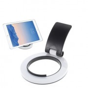 Shop4 - Sony Xperia Z3 Tablet Tablet Houder Opvouwbare Multi Stand Rond Zwart