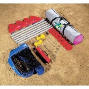 Zestaw do siatkówki plażowej (5200) siatka+słupki+linie