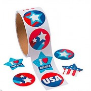 Patriotic Stickers (200 Stickers) 4th of July Independence Day Memorial