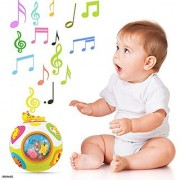 Memtes Move and Crawl Learning Baby Ball Toy with Lights Music and Sounds