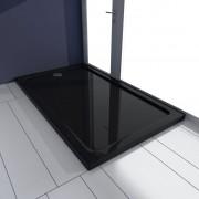 vidaXL Obdĺžniková sprchová vanička z ABS, čierna 70 x 120 cm